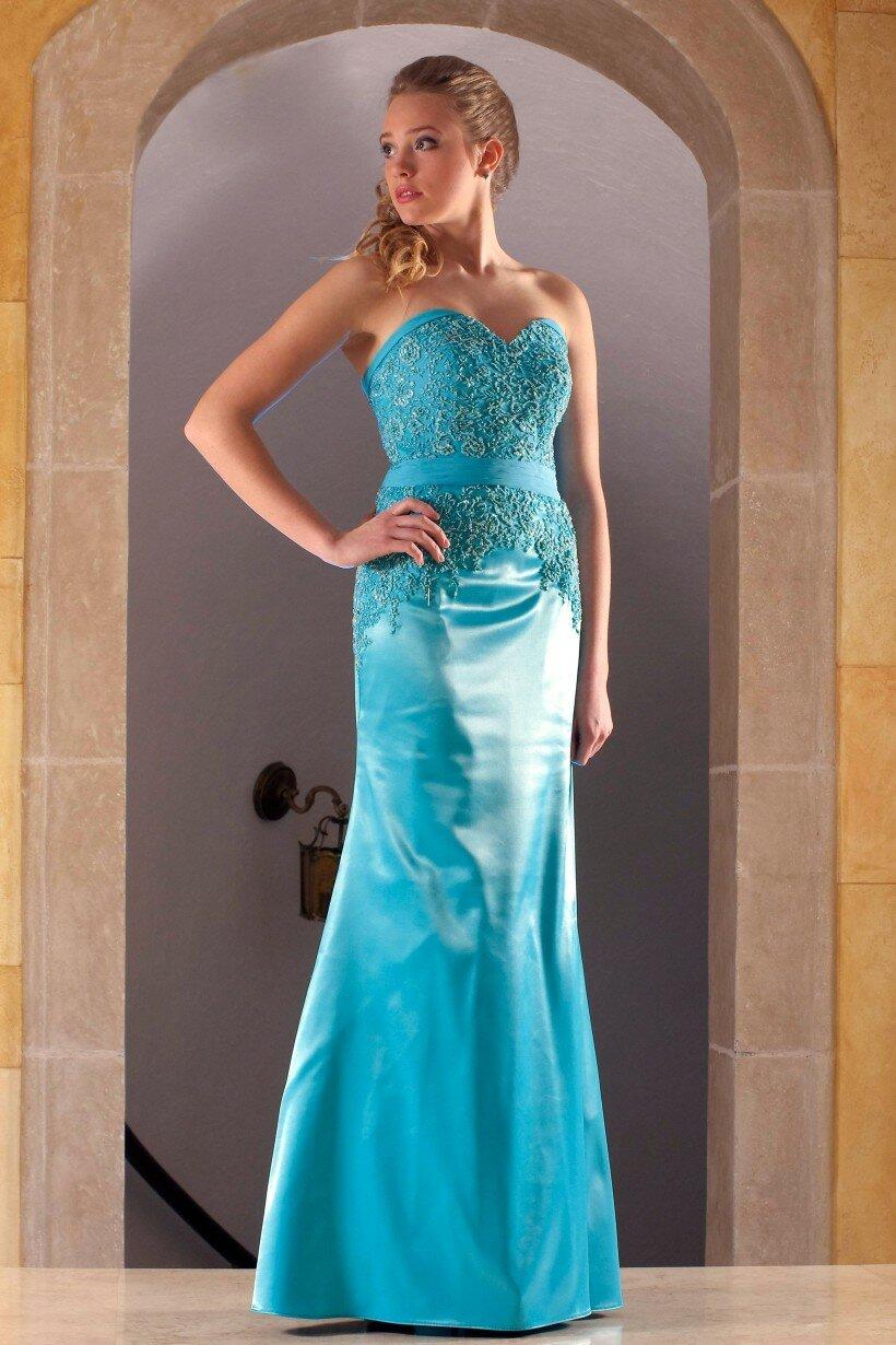 Вечірня сукня кольору блакитної морської хвилі